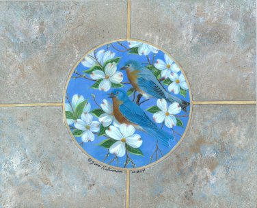 Eastern Blue Birds - Item OAPF206