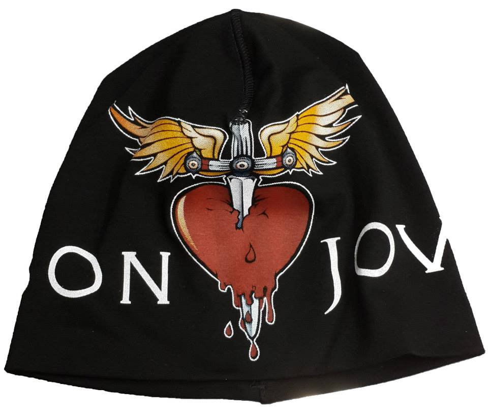 BON JOVI Beanie Hat Heavy Metal Rock Band Snow Winter Ski Bikers Cap