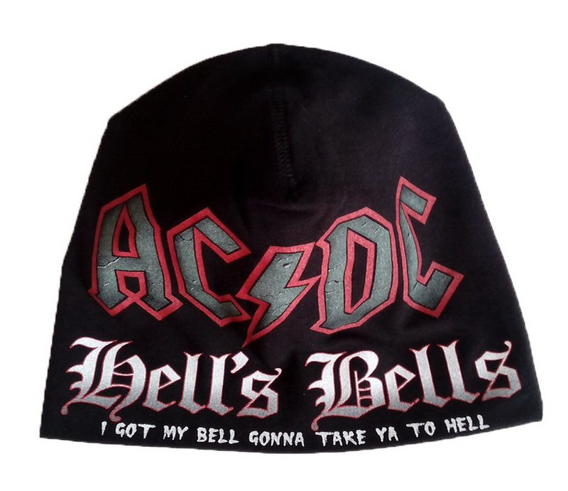 AC/DC Hell's Bells Beanie Hat Heavy Metal Rock Band Snow Winter Ski Bikers Cap