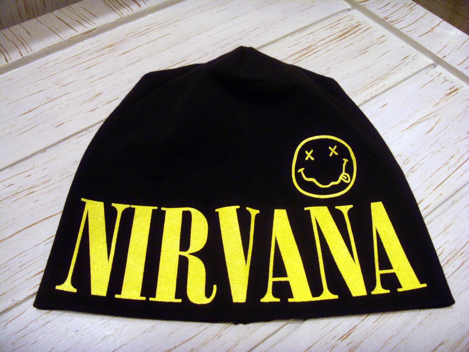 NIRVANA Beanie Hat Heavy Metal Rock Band Snow Winter Ski Bikers Cap