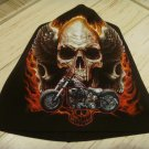 Skull Motorcycle Fire Beanie Hat Snow Winter Ski Bikers Cap