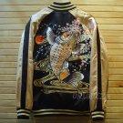 Sukajan Japan KOI Fish Embroidered Baseball Souvenir Flight Bomber Jumper Jacket
