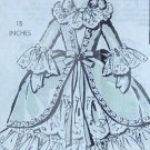 Vintage BOUDOIR DOLL and Her Gown Pattern - 15 inches tall