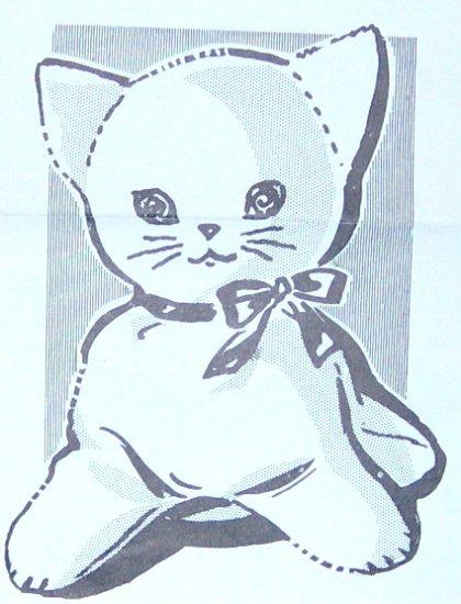 Vintage GIANT-SIZE KITTEN Kitty Cat Pattern