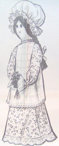 Decorative - COLONIAL DOLL - Vintage Pattern