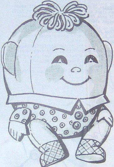 HUMPTY DUMPTY - Stuffed Doll or Toy Vintage Pattern