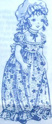 Vintage - OLD-FASHION DOLL - 19 inch tall Dolly Pattern