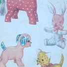 Vintage DOG, CAT, RABBIT and HORSE Stuffed Animal Pattern