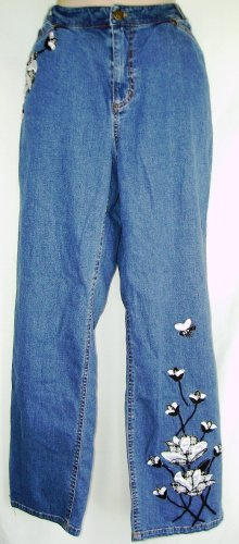 Bleu Jeans Tweed Applique Jeans Size 12