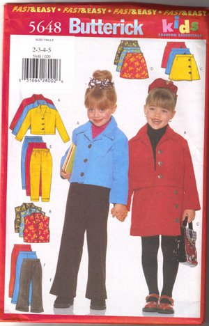 BUTTERICK Fast & Easy, Girls pattern (PA4)