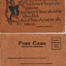 VINTAGE LEATHER POSTCARD, ca 1900's,lpc7