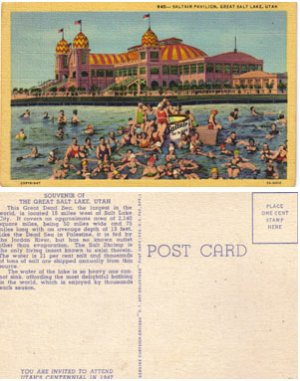 Saltair Pavilion, GREAT SALT LAKE, UTAH, Postcard #PC58
