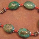 Handcrafted TURQUOISE AND CORAL Bracelet, JE1