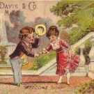 "CURTIS DAVIS & CO. ""Welcome Soap"" Trade Card, ca. 1880's, TC31"
