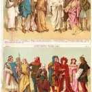 """Costumes--Ancient"" and ""Costumes—Middle Ages""   Color Plate,  BP7"