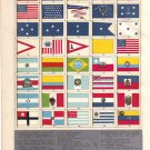 """Flags of America, Hawaii and Samoa""  Color Plate,  BP15"