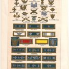 """""""United States Army and Navy Insignia"""" Color Plate,  BP16"""