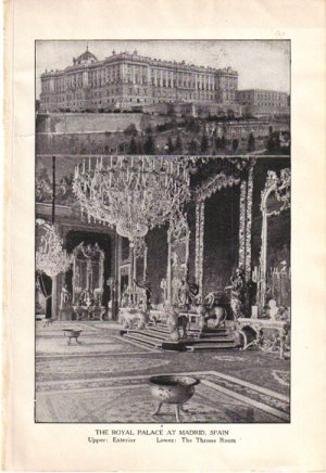 �The Royal Palace at Madrid, Spain� Color Plate,  BP29