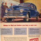 Plymouth Sedan Ad, 1948, AD126
