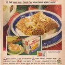 1948 LOOK Nabisco Shredded Wheat Ad Singer Sewing AD125