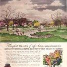1947 Maxwell House Coffee Ad Adolf Dehn Art, AD148