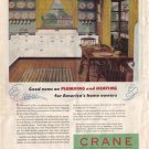 CRANE Plumbing and Heating, 1946 Ad, AD114