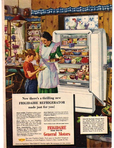 Frigidaire by General Motors Ad, Albert Dorne Illustration 1948, AD177
