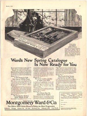 Montgomery Ward Spring Catalog Ad, 1926, AD144