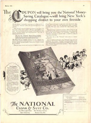 National Cloak & Suit Co. catalog Ad, 1926, AD145