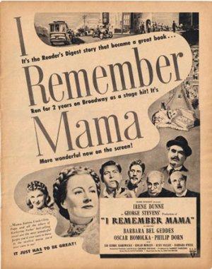 1948 LOOK I Remember Mama Ad Vaseline AD124