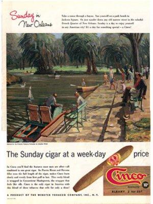 1948 LOOK Cinco Cigars New Orleans Ad Fleers AD130