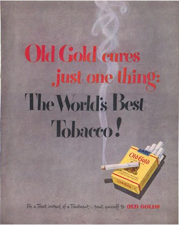 1948 LOOK Old Gold Cigarette Ad Ballantine AD131
