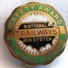 Vintage Trailways Bus System Safety Award Medallion. VM5