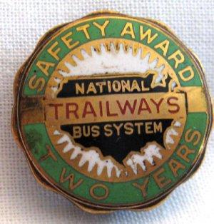 Vintage Trailways Bus System Safety Award Medallion. VM5