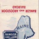 Match Book Cover, Bangor and Aroostook Railroad, RR1