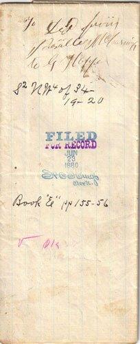 1871 Hand Written WARRANTY DEED, DE1