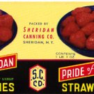 Pride of Sheridan Strawberries color label, LAB4