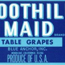 Foothill Maid Table Grapes color label, LAB7