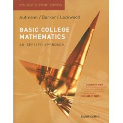 Basic College Mathematics An Applied Approach (Paperback) ISBN: 0547016743