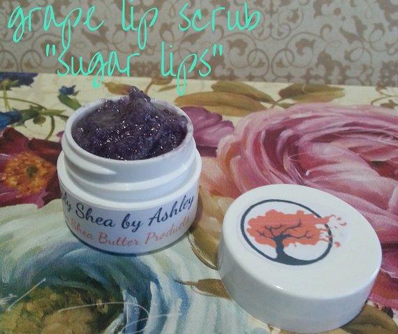 Grape flavored Sugar Lips lip Scrub ALL NATURAL