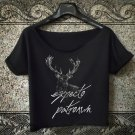 Item picture  expecto patronum t-shirt deathly hallows crop top women cropped tee harry tops 1