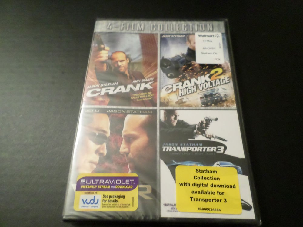 JASON STATHAM 4 FILM COLLECTION DVD CRANK,CRANK 2,WAR, TRANSPORTER 3 (BRAND NEW)