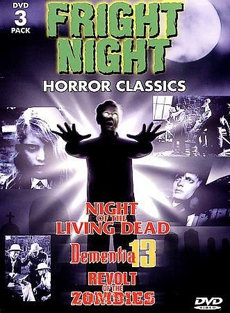 Fright Night: Horror Classics 3 Pack (DVD, 1998, 3-Disc Set) BRAND NEW