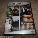 Matt Damon BOURNE,GREEN ZONE,GOOD SHEPHERD,ADJUS. BUREAU (DVD, 2013, 3-Disc Set)