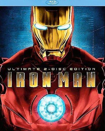 Iron Man (Blu-ray Disc, 2008, 2-Disc Set, Ultimate Edition) ROBERT DOWNEY JR