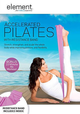 Element: Accelerated Pilates (DVD, 2012, With Band) LISA HUBBARD