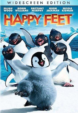 Happy Feet (DVD, 2007, Widescreen) W/ SLIP COVER