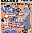 Family Values Tour '98 (DVD, 1999) LIMP BIZKIT,KORN,ORGY,ICE CUBE