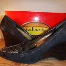Talbots New womens brown suede wedge heels loafers size 10