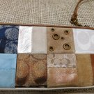 Coach wristlet signature wallet suede leather Patchwork